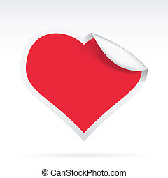 Paper Heart - vector illustration of a creative paper heart