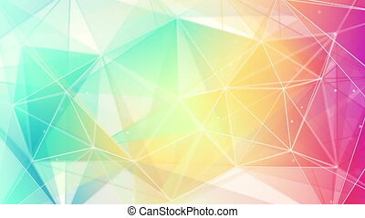 colorful triangles abstract loop