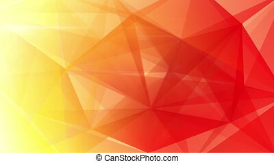 abstract triangle geometrical red - yellow orange red...