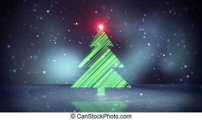 christmas tree shape on ice loop - christmas tree shape on...