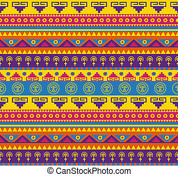 mexican pattern - seamless fancy bright colored pattern in...
