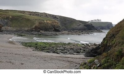 Church Cove near Gunwalloe Cornwall England UK on the Lizard...