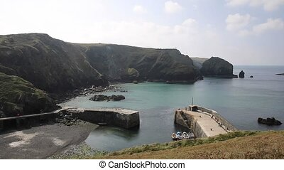 Mullion Cove The Lizard Cornwall - Mullion Cove harbour...