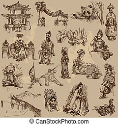 Traveling China - Hand drawn pack - From the traveling...