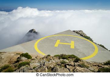 Helicopter landing platform
