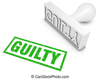 Guilty! - Guilty rubber stamp. Part of a series of stamp...