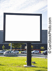Empty billboard with copy space