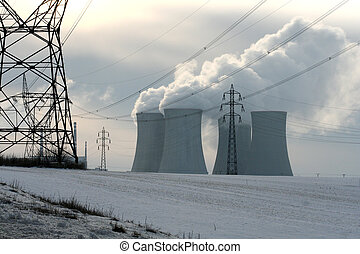 cooling towers of nuclear power station