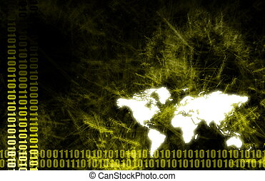 A World Tech Business Background