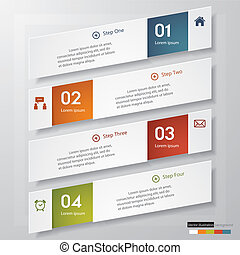 Clean number banners template. - Design clean number banners...