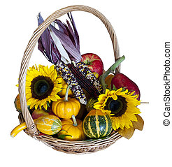 Autumn Harvest Basket - A basket full of autumn goodies