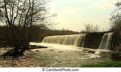 Waterfall on the River Mountain Tikich Buki village,...