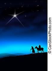 el, navidad, manera
