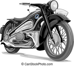 Vector of motorcycle - Vector illustration of a motorcycle
