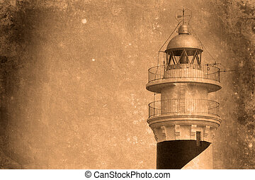 Lighthouse Menorca - Retro look of light house menorca spain