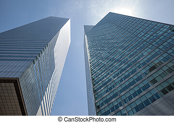 Manhattan modern architecture - NEW YORK, USA - Jun 01,...