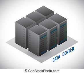 data center design - data center graphic design , vector...