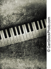piano - old historically keyboard in retro design look
