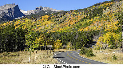 Autumn Rocky Mountain National Park - Bear Lake Road in...