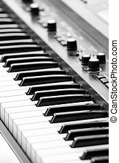 Electric piano - keyboards on an electric piano