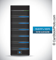 server design - server graphic design , vector illustration
