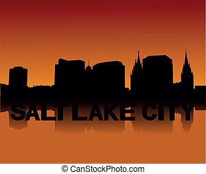 Salt Lake City skyline at sunset - Salt Lake City skyline...