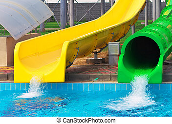 Aquapark sliders, aqua park, water park