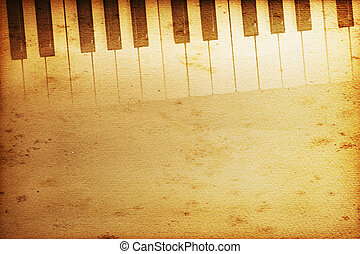 Grand piano - old historical keyboard of a grand piano