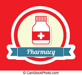 pharmacy design - pharmacy graphic design , vector...
