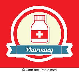 pharmacy design - pharmacy graphic design , vector...