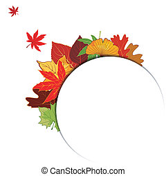 Colorful Autumn Leaf Background - Thanksgiving Colorful...