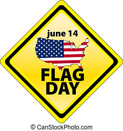 USA flag day - january 14 - USA flag day