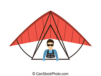 paragliding design - paragliding graphic design , vector...