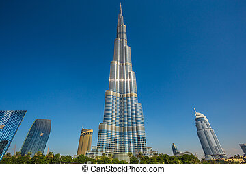 Burj khalifa, the highest building in the world - DUBAI, UAE...