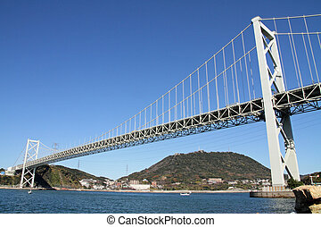 Kammon strait bridge in Japan