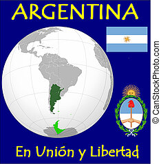 Argentina motto - Argentina location flag coat motto