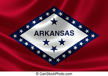 Arkansas State Flag - 3D rendering of the flag of Arkansas...