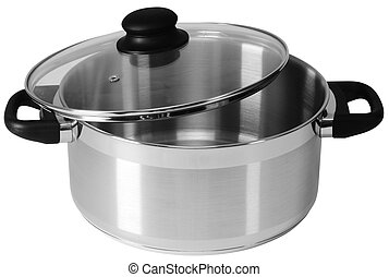 Pot - Cooking pot over white