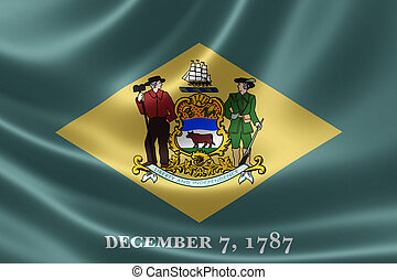 Delaware State Flag - 3D rendering of the flag of Delaware...