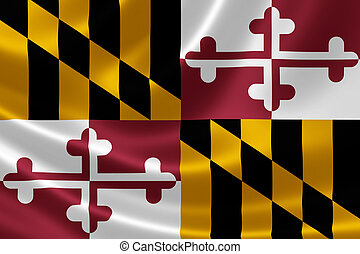 Maryland State Flag - 3D rendering of the flag of Maryland...