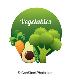 vegetal design - vegetal graphic design , vector...