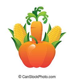 vegetal design - vegetal graphic design , vector...