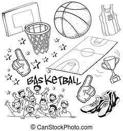 Basketball - Vector illustration of basketball competition...