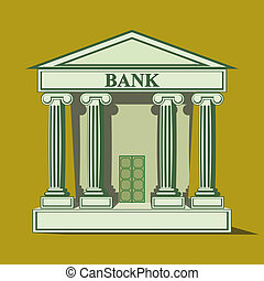 Flat bank icon vector illustration clip art