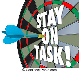 Stay on Task 3d Words Dart Board Complete Job - Stay on Task...