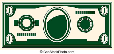 one dollar - Vector Illustration stylized image of a dollar