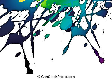 splashes - modern art with colored splashes on the paper