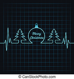 Heartbeat make Christmas symbols st