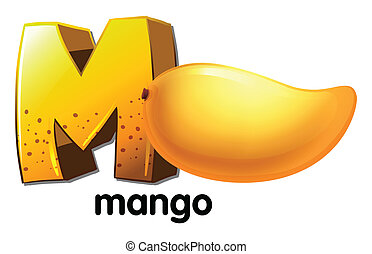 A letter M for mango - Illustration of a letter M for mango...