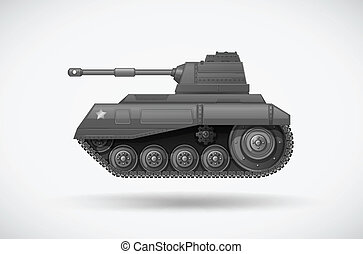 A military armoured tank - Illustration of a military...
